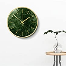 Creative Nordic Living Room Silent Wall Decoration Wall Clock Fashion Simple Study Round Clock Metal Frame HD Glass Mirror...