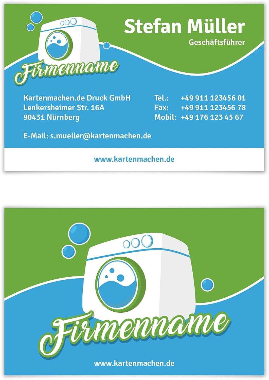 500 x Visitenkarten individuell Business Karten 300g qm 85 x 55 mm - Wäscherei B07F3ZY5M4   Neuheit Spielzeug