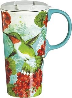 Trio Birds 17 OZ Ceramic Perfect Cup - 4 x 5 x 7 Inches