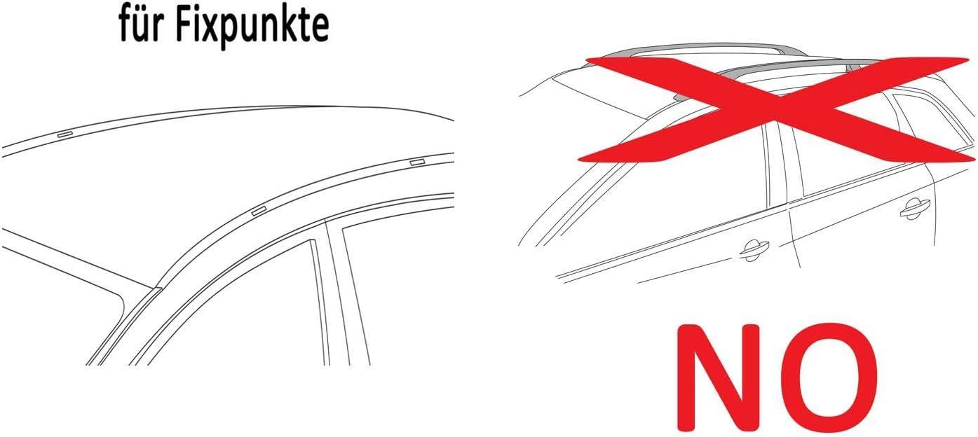 VDP kompatibel mit Mercedes Citan extralang ab 2013 Dachtr/äger XL Pro200 Alu 2 Stangen