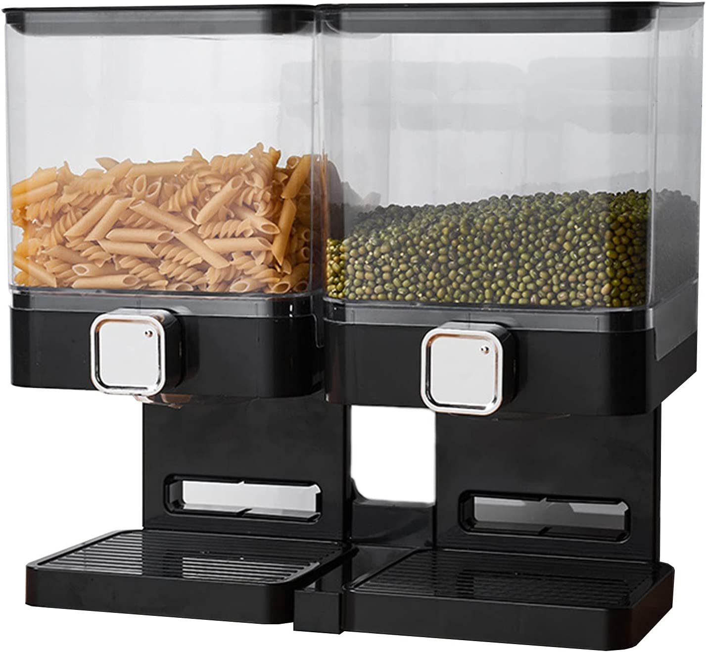 Cereal Dispenser Container 5 ☆ very popular With Large C Capacity Double store Kitchen