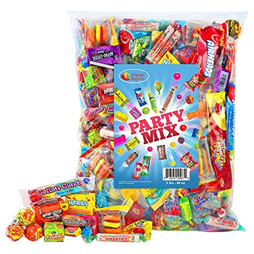 Party Mix - 3 Pound - Individually Wrapped Candies - Assorted Candy