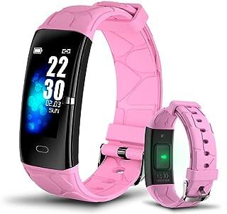 QCHNES Reloj Deportivo Inteligente, Agua IP67, Recordatorio De Llamadas De Información del Monitor del Ritmo Cardíaco Reloj Inteligente, Anti-pérdida Inteligente
