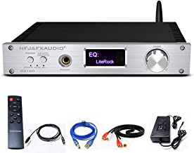 FX AUDIO Bluetooth 5.0 Stereo Amplifier- 2 x150W DSP CSR8675 APTX HD LDAC Headphone Amplifier with OLED Display IR Remote 36V 6A Power Supply (Silvery)