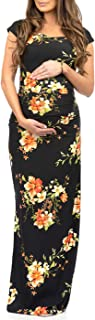 Women's Shortsleeve Ruched Bodycon Maternity Dress with...