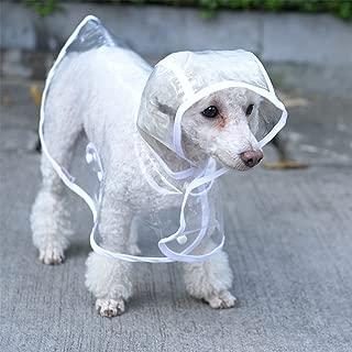 S-Lifeeling Fashion Puppy Pet Raincoat Transparent Waterproof Outdoor Dog Raincoat Hooded Jacket Poncho Pet Raincoat for Medium Dogs, Small Dogs