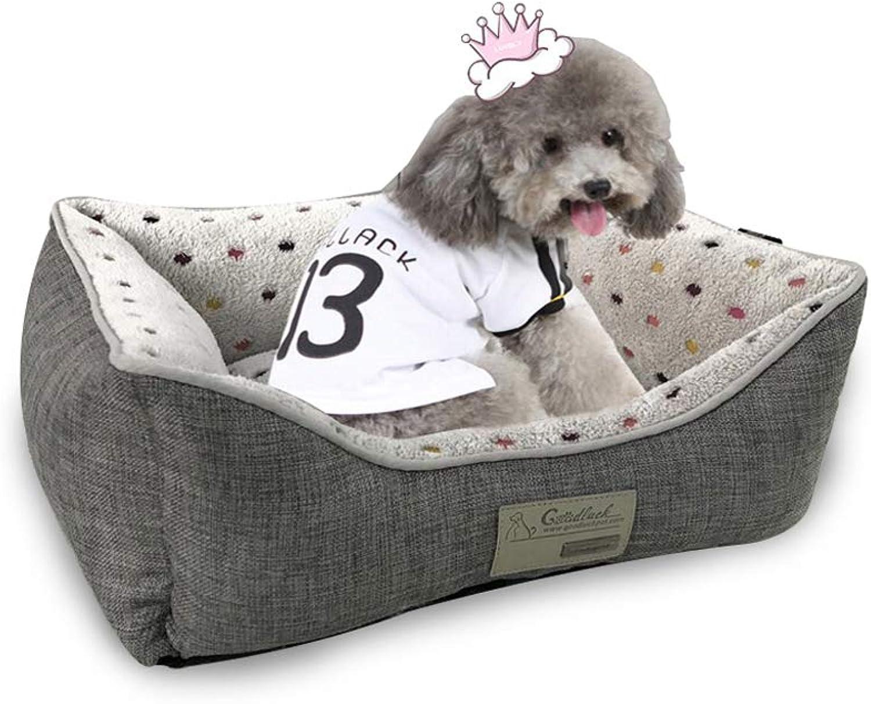 XBCWW Cat &Dog Bed, Adatto per piccoli, medi e grandi cani, Four Seasons Universal Winter Warm Pet Nest, Dog Mat, Cat Nest completamente rimovibile e lavabile (colore: L)