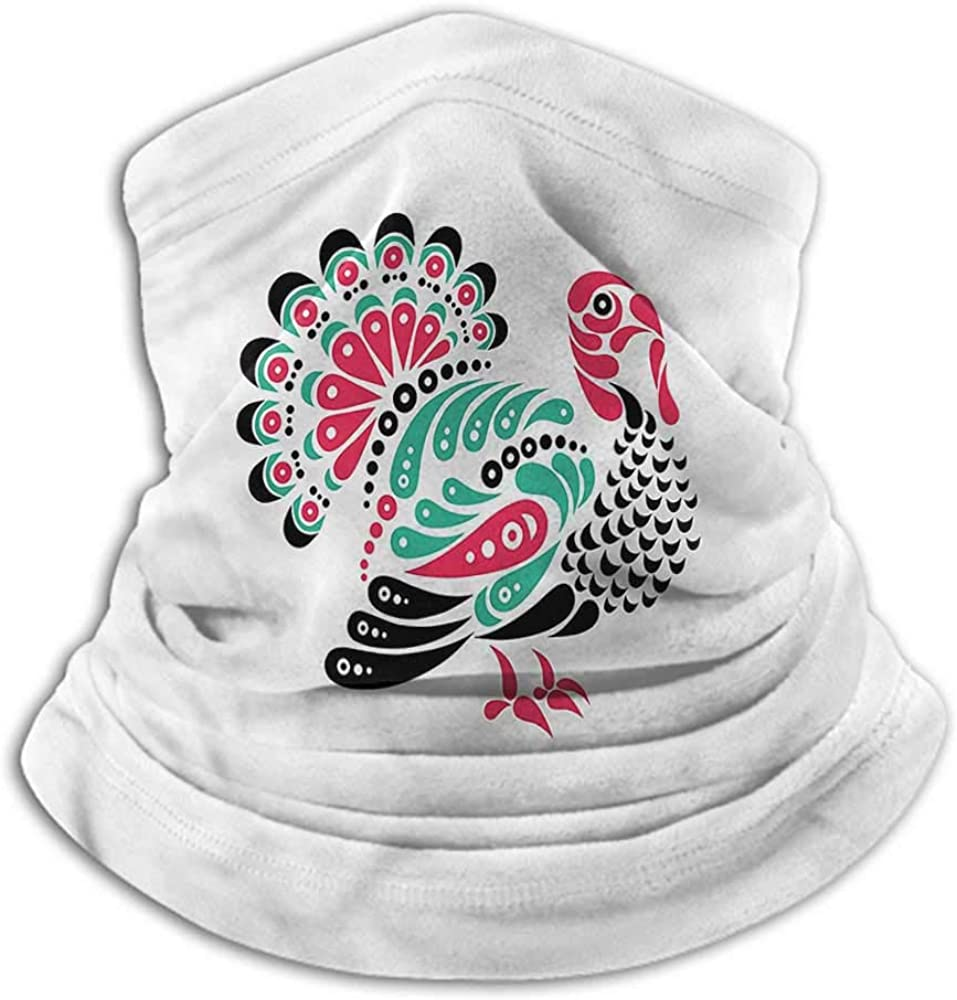 Face Scarf Mask Women Turkey Recycle Elasticity Stretchable Thanksgiving Animal 10 x 12 Inch