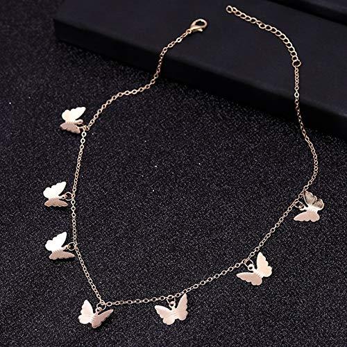 Dfgh Small Animal Butterfly Stars Chain kettingen for vrouwen Hot Koop Goud Zilver Kleur sleutelbeen keten kettingen sieraden accessoires (Metal Color : Style 15)