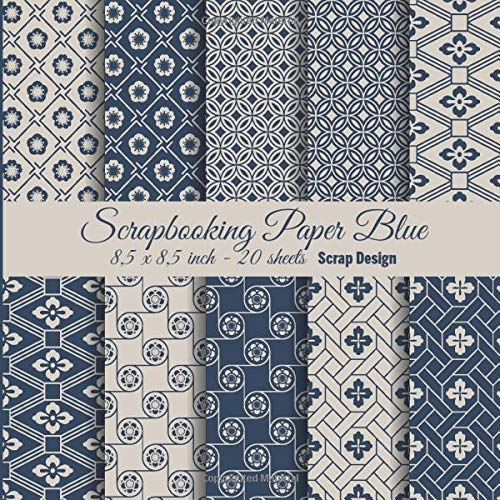 Compare Textbook Prices for Scrapbooking Paper Blue 8,5 x 8,5 inch - 20 sheets  ISBN 9798600690691 by Scrap Design