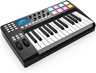 RROWER MIDI Controller Disc Musical Instrument USB MIDI Keyboard Controller 8 Colorful Backlit Trigger Pads, Controller 6 MPC Pads, Electric for Mac and PC