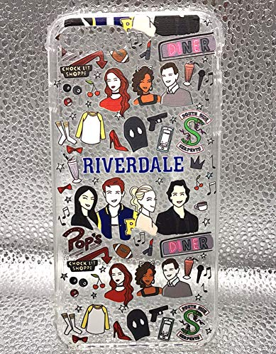 Comdoit Riverdale Southside Serpents Phone Case for iPhone 8 Plus and iPhone 7 Plus 5.5 Inch, Crystal Clear Case with 4 Corners Shockproof Protection Soft Scratch-Resistant TPU Case