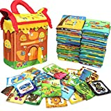 Nstcher Soft Infant Books Non-Toxic Fabric Soft Cloth Book Set for Toddler Infants and Kids - Pack of 46