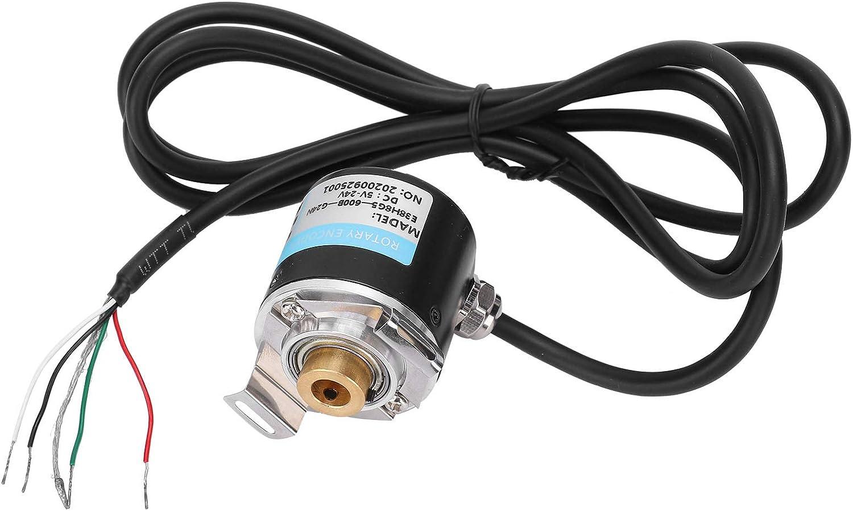 Durable 144Mm Cable Length Encoder Practical DC5-24V Compact for Office Automation E38H6G5-100B//200B//360B//400B//500B//600B Hollow Shaft Encoder 500B