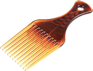 Frcolor Hair Pick Comb, Smooth No Frizz Afro Hair Lift Pick Comb for Hairstyle