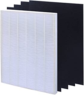 isinlive True HEPA Plus 4 Carbon Replacement Filter A 115115 Size 21 for Winix PlasmaWave air Purifier 5300 6300 5300-2 6300-2 P300 C535