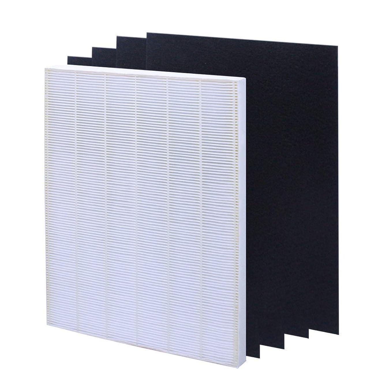 isinlive True HEPA Plus 4 Carbon Replacement Filter A 115115 Size 21 for Winix PlasmaWave air Purifier 5300 6300 5300-2 6300-2 P300 C535