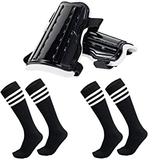 AnjeeIOT Shin Guards for Kids Soccer Shin Pad Protective Gear Football Guard Board Equipment Fit 5-10 Years Old Boys Girls