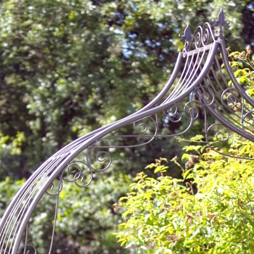 Rose arco metal antiguo 290 cm Pergola pérgola Tor: Amazon.es: Jardín