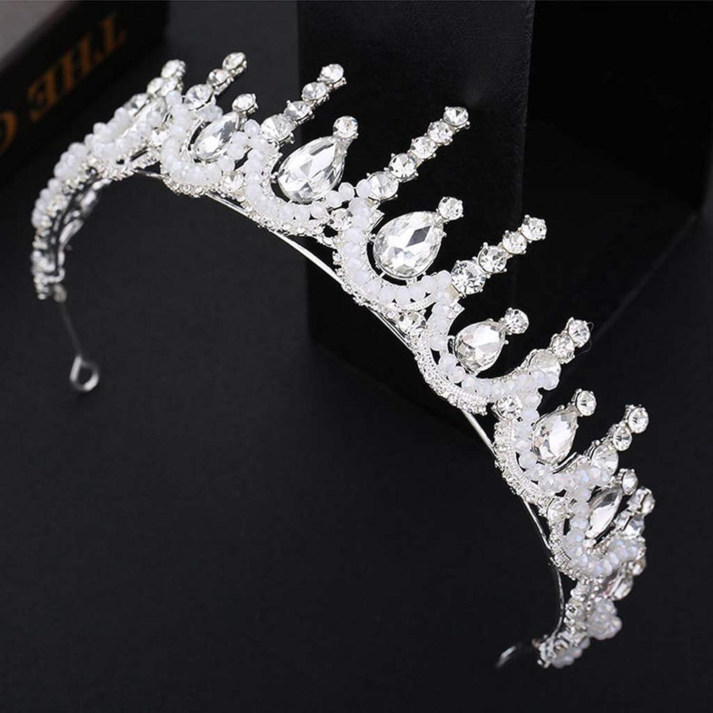 Bridal Accessories Bridal Wedding Headwear Crystal Crown New White Gauze Dress Accessories