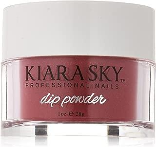 Kiara Sky Dip Powder, Frosted Pomegranate, 1 Ounce