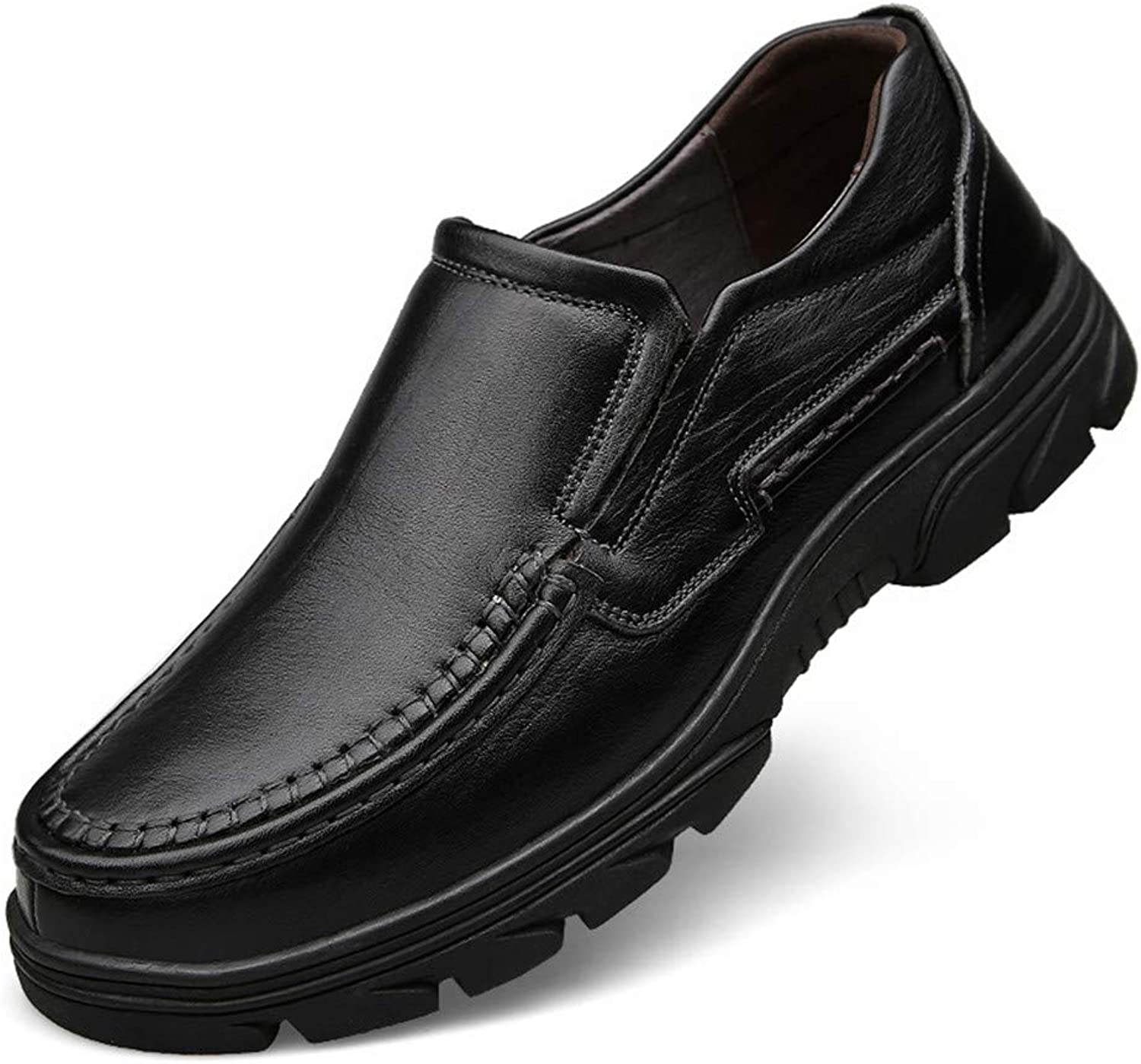 WOJIAO Casual Loafers Driving shoes Men's Slip on Black Brown Flats