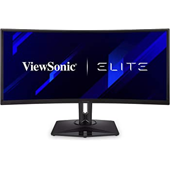 "ViewSonic Elite XG350R-C 35"" UltraWide 21:9 Curved 1440p 100Hz RGB Gaming Monitor with FreeSync HDR10 and Advanced Ergonomics for Esports"