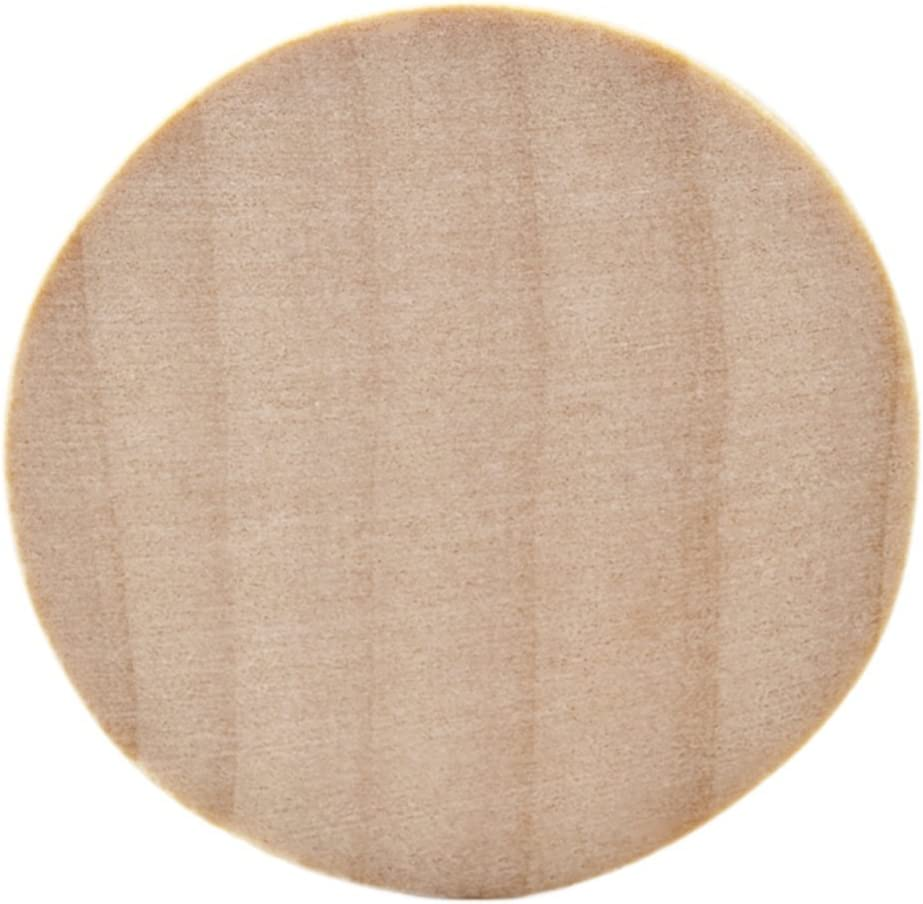 Natural Unfinished Round Wood mart Circle Cutout Bag - 10 Inch Dallas Mall 1.5 of