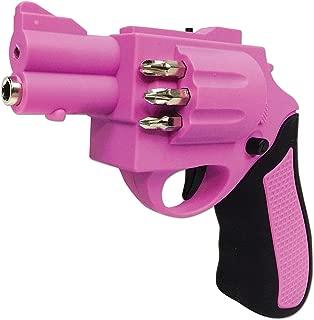 Forum Novelties Gun Power Shaped Screwdriver With 6 Different Size Drill Bits Pink