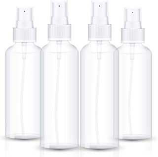 Spray Bottle, Fine Mist Clear Plastic Empty Refillable Mini Spritzer for Travel, Cleaning, Gardening, Skin Care Atomizer P...