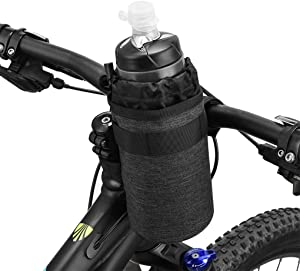 Bike Water Bottle Holder Bicycle Bike Storage Bag Water Bottle Cage Cycling Bicycle Handlebar Bag Bicycle Water Bottle Drink Holder Food Snack Storage for Huffy Mountain Pushchai Bottle Cage
