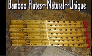 thaisan7 12 Real Bamboo Flutes Hand Painted Nice Sounds Kids Love These Nice Gifts,Christmas & New Year Gift