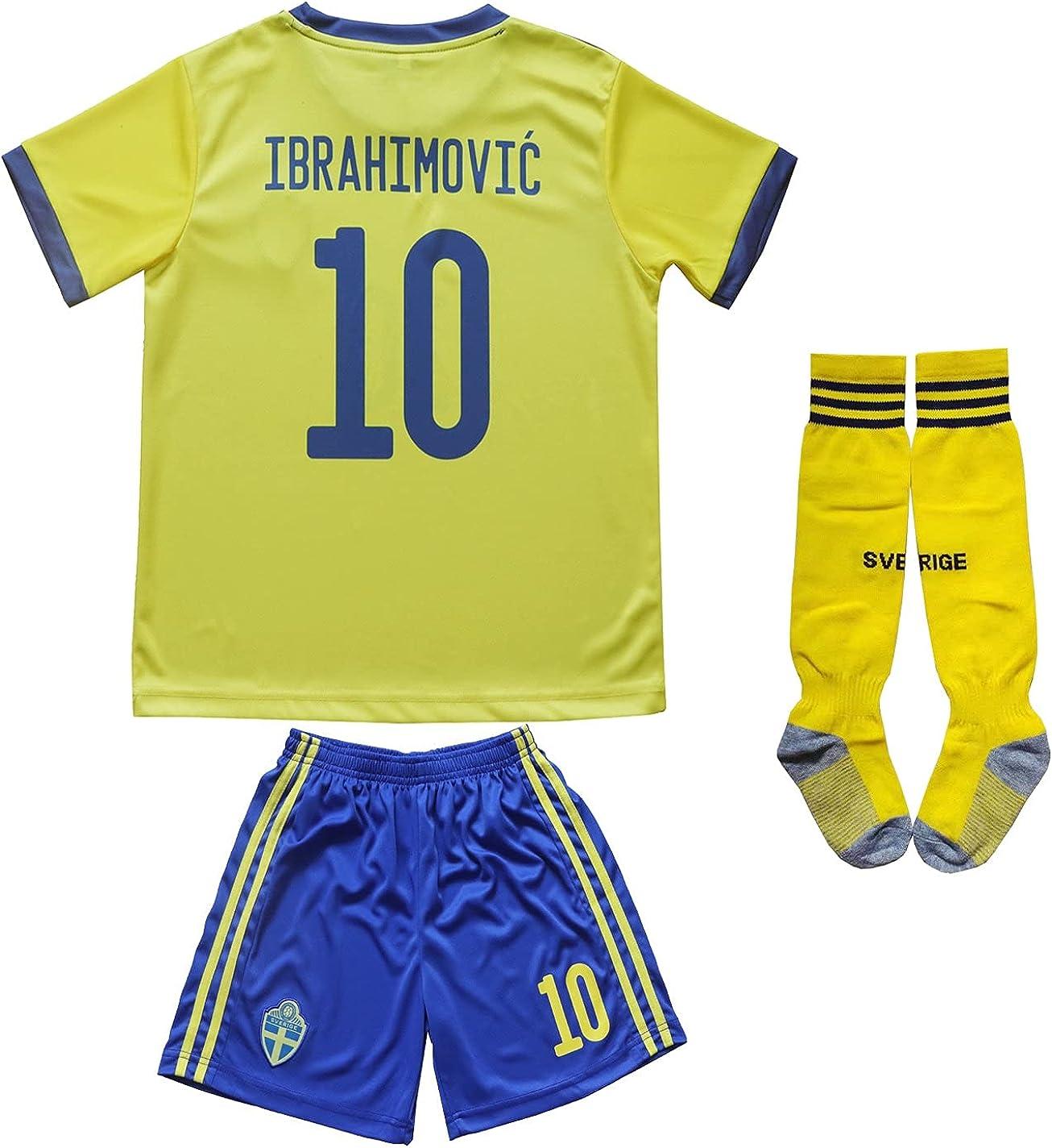Necm 2021 Sweden #10 Zlatan Ibrahimovic Kids Home Max Super sale 84% OFF Socce Football