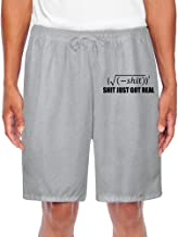 ZOENA Men's Best Funny Mathematic Poster Jogging Shorts Ash