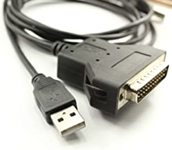 Silabs CP2102 USB RS232 Serial Printer Adapter Cable to DB25 for Bar Code Printer Scanner (180CM)