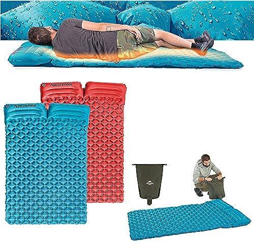 ShopSquare64 Naturehike NH17Q020 Double Coussin de Couchage Gonflable de Tente de Camping de Tapis de Moisture-Preuve-Preuve avec l'oreiller