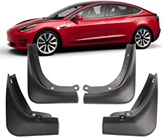 Dasbecan 4 Pcs Car Mudguard for Tesla Model 3 2016-2019 Front/Rear Fender Accessories Auto Splash Guard Paneling Snow Mud Flaps (Standard) …