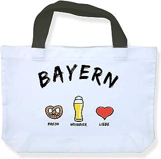 Einkaufstasche Bayern: Brezn-Weißbier-Liebe - als Geschenk für Bayern oder als Bayern Souvenir - die stadtmeister
