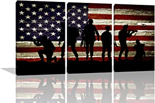 Best large wooden american flag wall art Reviews
