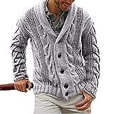 Suéter de Cuello Vuelto para Hombre, Prendas de Punto Gruesas, Tendencia de Personalidad, Tejido de Punto de...