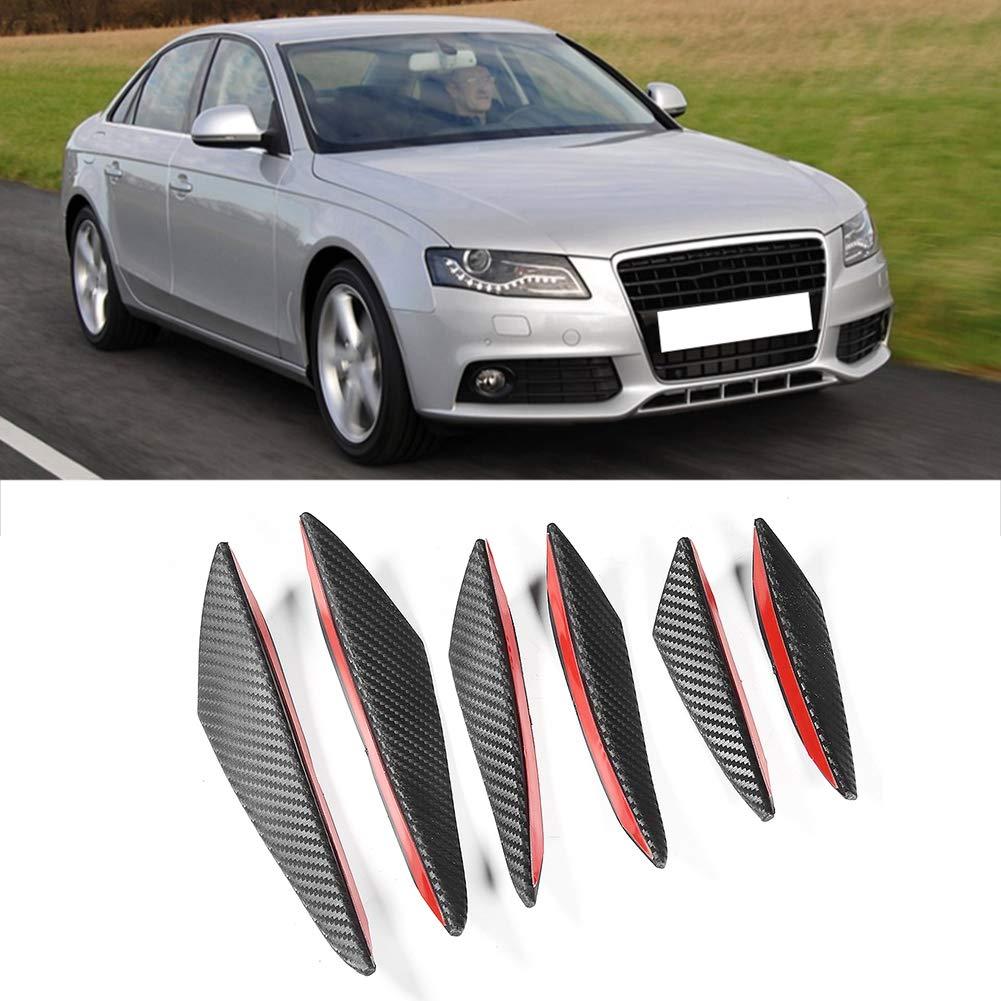 KIMISS Paraurti anteriore spoiler 6 pezzi in fibra di carbonio Texture paraurti per auto Fin Canard Splitter Diffusore Valence Spoiler Lip