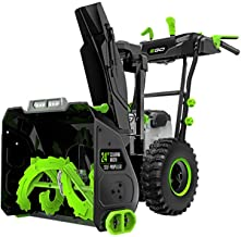 EGO Power+ SNT2405 24 in. Self-Propelled 2-Stage Snow Blower with Peak Power Two 7.5Ah Batteries and Dual Port Charger Inc...