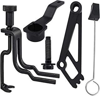 ابزار تعمیر موتورهای کمپرسور فنر کیت-سوپاپ ، ابزار موقعیت میل لنگ ، ابزار نگهدارنده بادامک فازر ، ابزار گوه ای قفل بندی زنجیره تایمر و پیچ پیچ قرقره میل لنگ برای موتورهای Ford 4.6L 5.4L 6.8L 3V