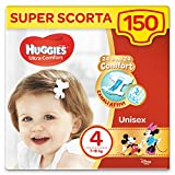 Huggies Ultra Comfort Lot de 150 couches Taille 4...