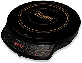 NuWave PIC Gold 1500W Portable Induction Cooktop Countertop Burner, Gold