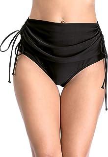 ATTRACO Women's Solid Swim Bottom Beach Bikini Bottom High Waist Swimwear Bottom
