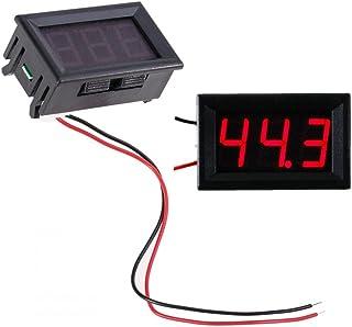 """JZK® 2-draads DC 7-100V 0.56"""" mini digitale spanningsmeter rood paneel LED display voltmeter spanning tester"""