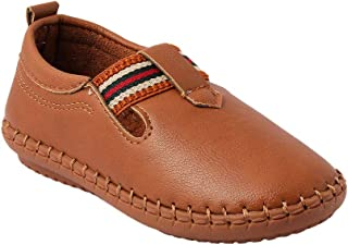 Hopscotch Kittens Boys Synthetic Loafers in Tan Color