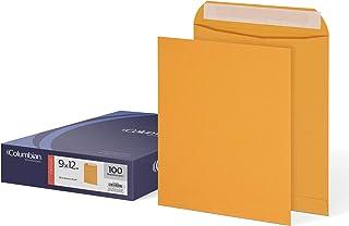 Columbian Manila Envelopes, 9 x 12 Inch, Grip Seal, Mailing Envelopes, 100 Per Box (CO922)