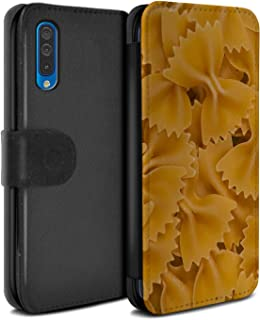 eSwish PU Leather Wallet Flip Case/Cover for Samsung Galaxy A70 2019 / Farfalle Pasta Design/Food Collection